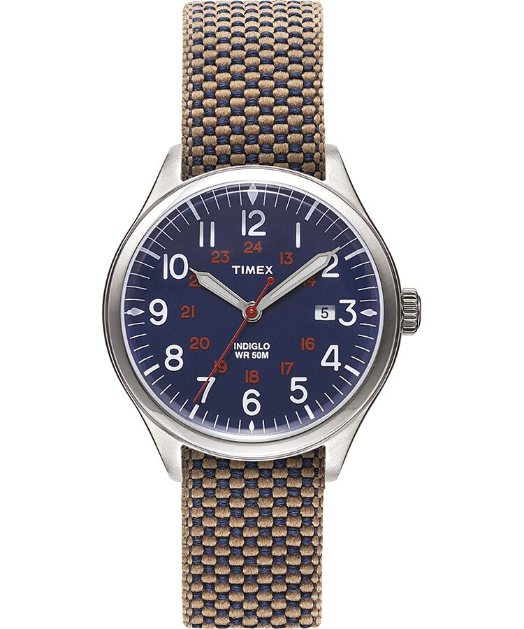 Timex - Waterbury United 38mm Reversible Fabric Strap Watch