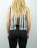 Pleasant - Striped Open Back Top