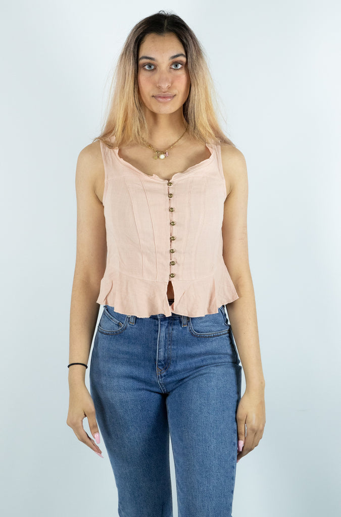 Dress Forum - Western Button Down Linen Top