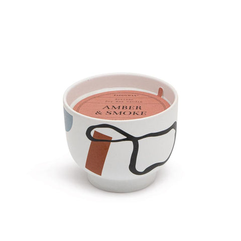 Paddywax - 12 oz Amber and Smoke Ceramic Bowl Candle