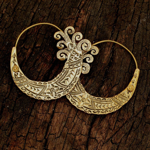 Baizaar - Hill Tribe Etched Earring