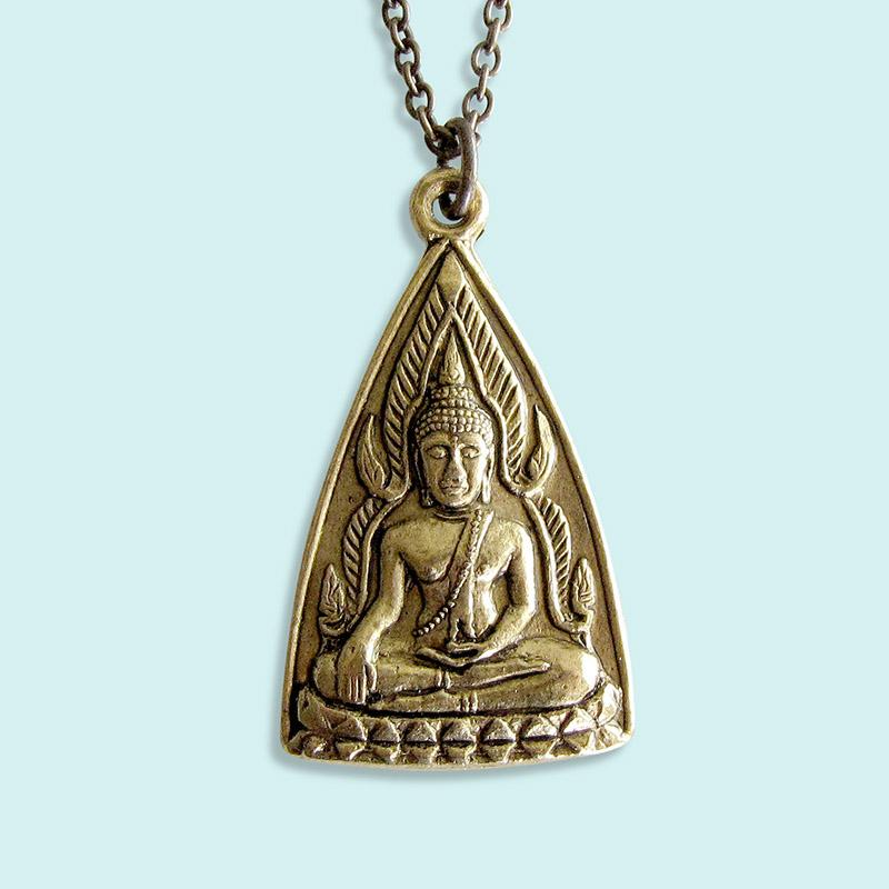 Ornamental Things - Triangle Buddha Necklace