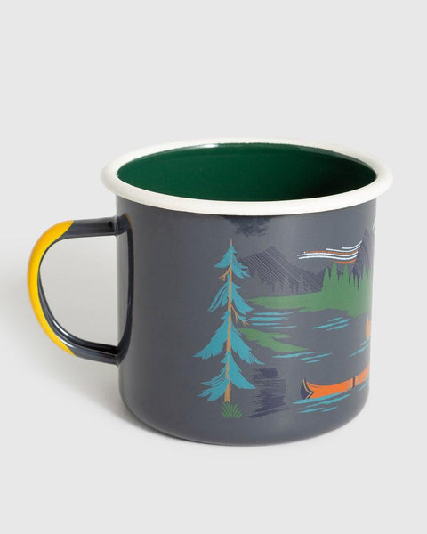 United By Blue - Canoe Times 22oz Enamel Steel Mug