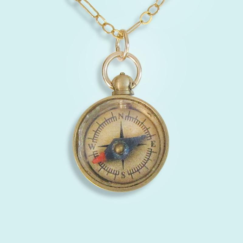 Ornamental Things - Tiny Compass Necklace