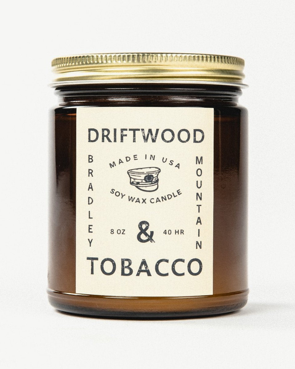 Bradley Mountain - Driftwood + Tobacco Candle
