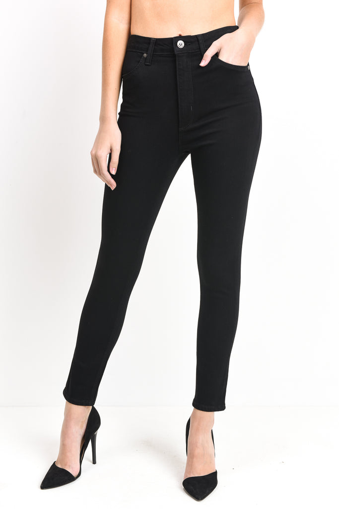 Just Black Denim - High Rise Crop Skinny