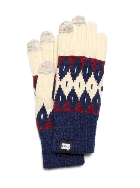 ELOVG - Argyle Knit Unisex Gloves