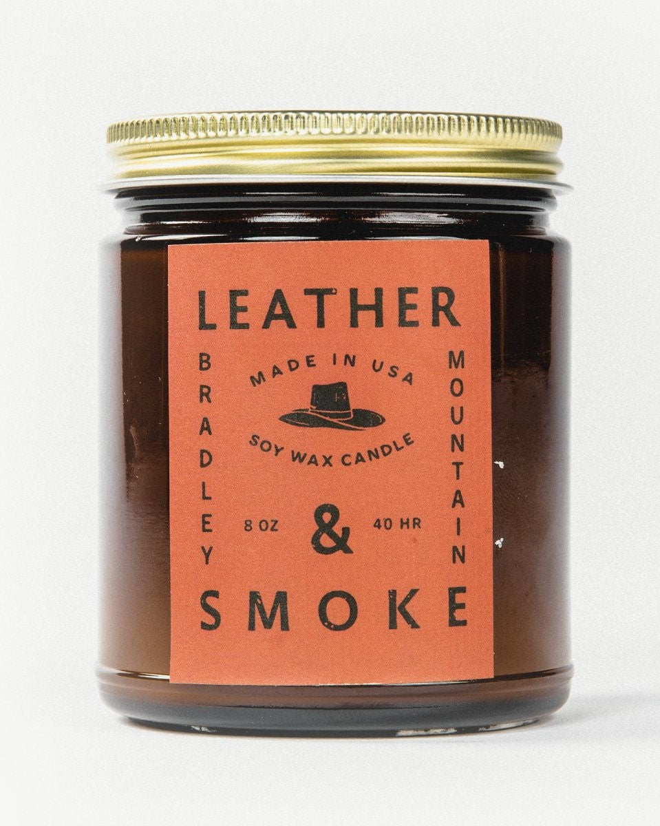 Bradley Mountain - Leather + Smoke Candle