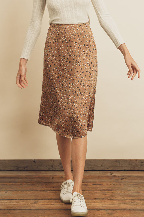 Dress Forum - Leopard Dot Midi Skirt