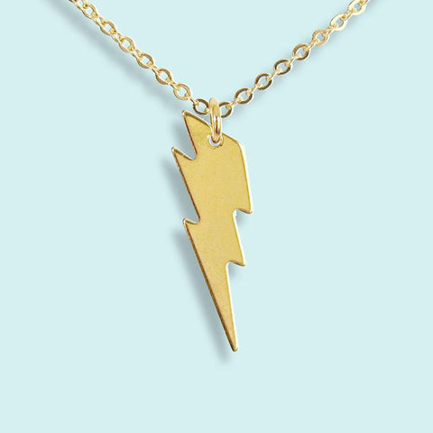 Ornamental Things - Gold Lightning Bolt Necklace