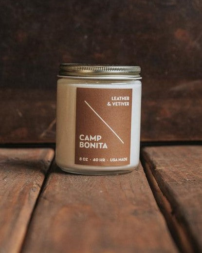 Bradley Mountain - Leather + Vetiver Camp Bonita Candle