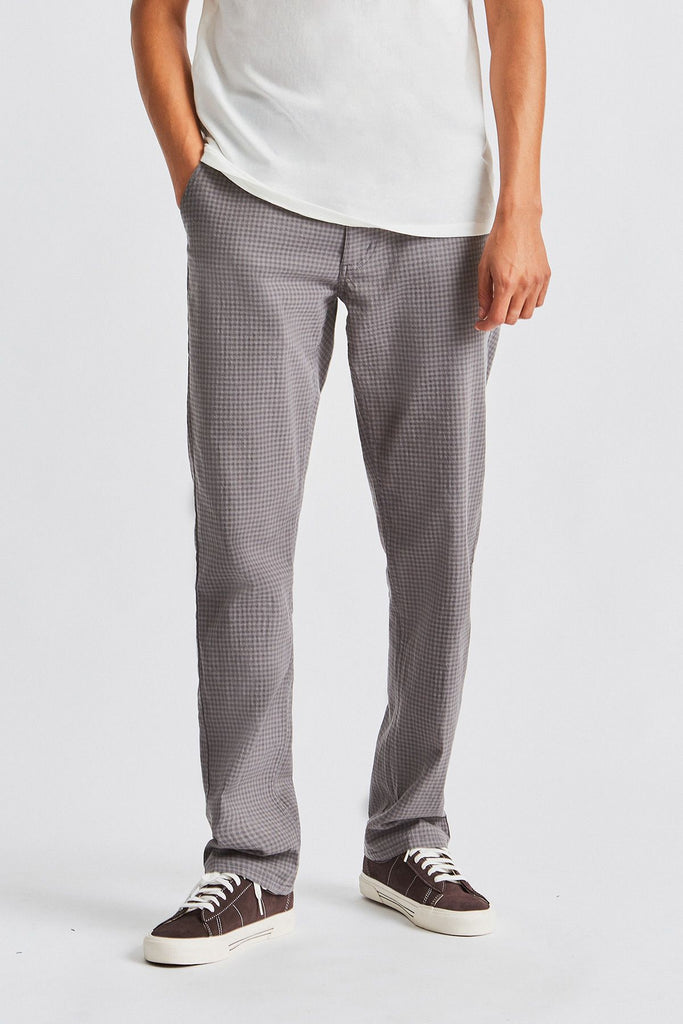 Brixton - Reserve Chino Pant Grey Gingham