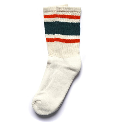 American Trench - Retro Stripe Sock Green / Orange