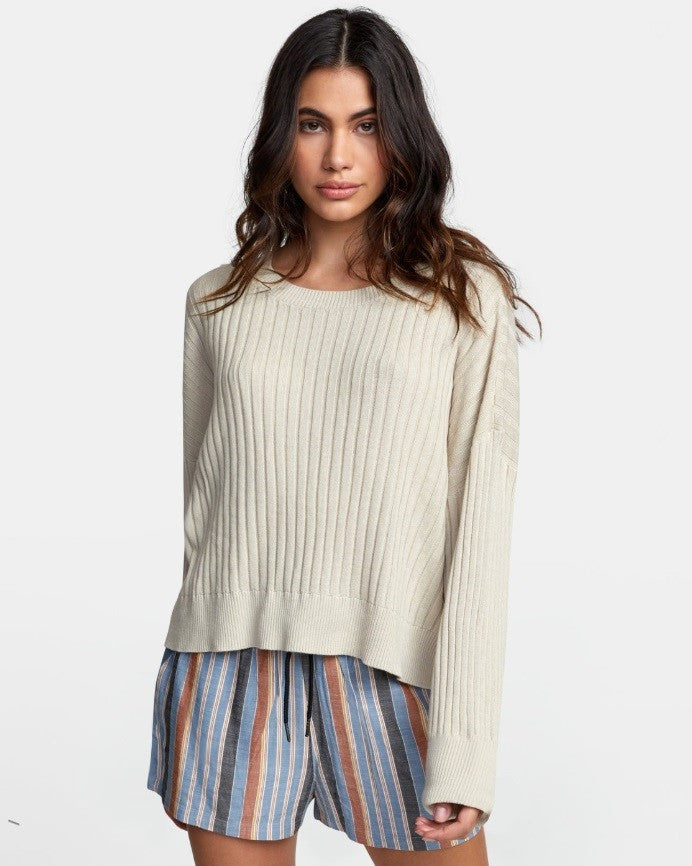RVCA - Sydney Sweater OATMEAL