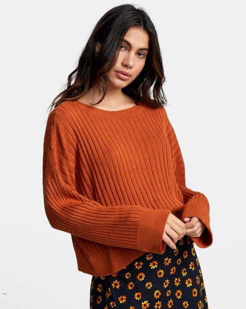 RVCA - Sydney Sweater DARK ORANGE