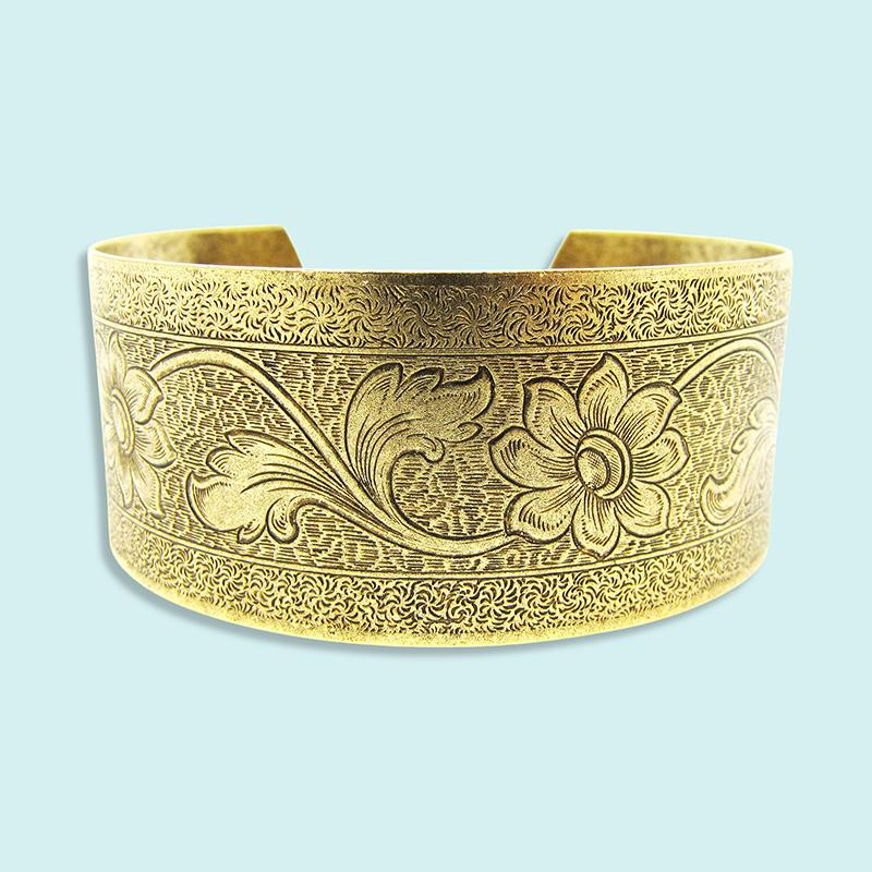 Ornamental Things - Brass Tooled Cuff