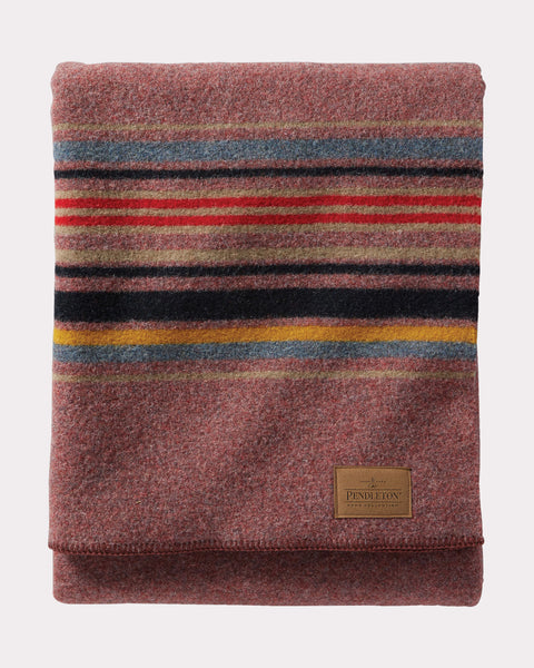 Pendleton - Yakima Twin Blanket w/ Carrier Red Mountain