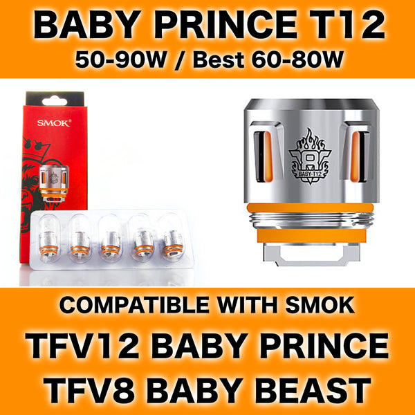 Smok Baby Prince T12 Orange Light Coils