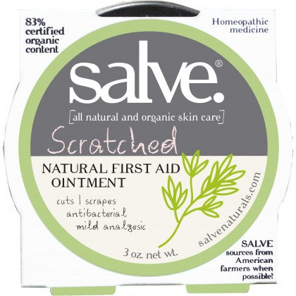 Scratched – Emergency Salve (hand-made 83%+ certified organic content)