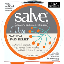 Load image into Gallery viewer, Achy - Emergency Salve (hand-made 90%+ certified organic content) - FDA APPROVED