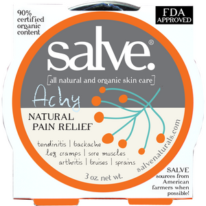 Achy - Emergency Salve (hand-made 90%+ certified organic content) - FDA APPROVED