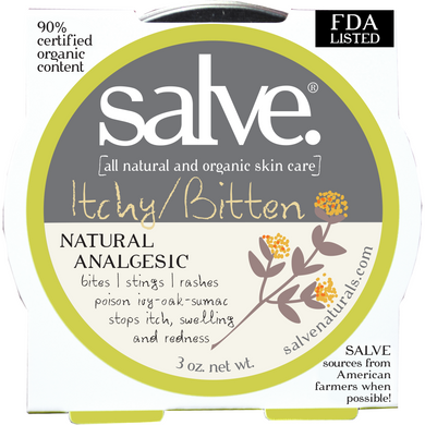Itchy/Bitten – Emergency Salve (hand-made 90%+ certified organic content)