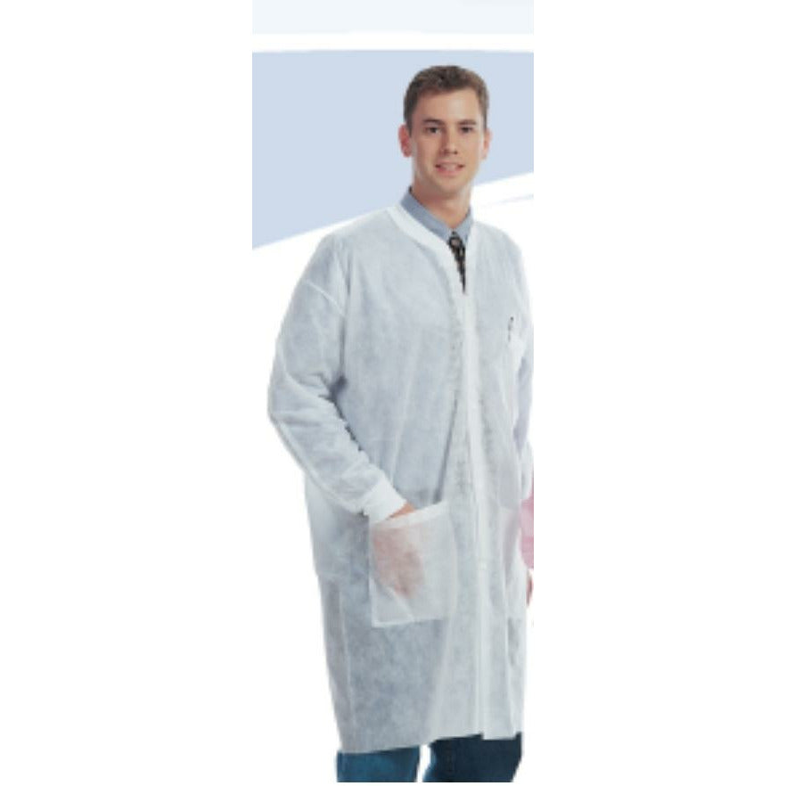 Lab Coat Disposable  White- Medium