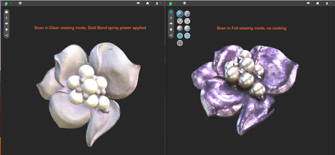 REDUCE SHINE AND SHADOWS WHEN 3D SCANNING