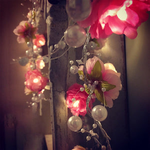 Flowers and Pearls Fairy Lights - Aster & Birch
