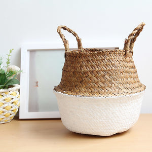 Chiara Seagrass hand-woven basket - Aster & Birch