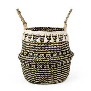 Lilou hand-woven seagrass basket - Aster & Birch