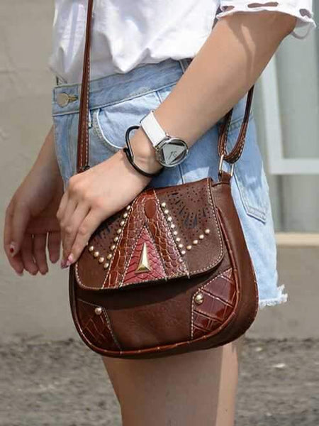Boho Fashion Mini PU Rivet Shoulder Bag