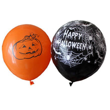 Load image into Gallery viewer, Halloween Decoration 12 Inch Inflatable Latex Balloons Pumpkin Ballons