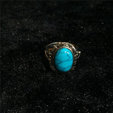 Load image into Gallery viewer, Elegant Vintage Artificial Turquoise Ring