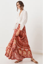 Load image into Gallery viewer, Red Vintage Floral Beach Holiday Skirt
