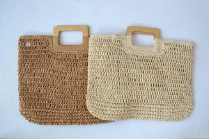 Crochet Bag Female Summer Straw Bag Handbag Beach Bag