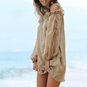 Summer Beach Wear Women Bathing Suits Cover Up Bandeau Solid Free Size New Beach Tunic Pool Party Sexy Fashion Swimwear