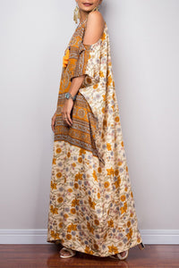 Bohemian Off-the-shoulder Style Robes Sling Ethnic Long Dress