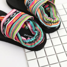 Load image into Gallery viewer, Bohemian Wrapped Flip-Flops Women Slippers Flat-bottomed Fashion Wear Non-slip Beach Shoes