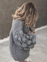 Load image into Gallery viewer, Knit Hollow Long Sleeve Cardigan Outwear Sweater
