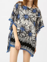 Load image into Gallery viewer, Print Loose Casual Beach Bikini Cover Up