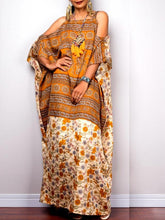 Load image into Gallery viewer, Bohemian Off-the-shoulder Style Robes Sling Ethnic Long Dress