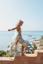 Load image into Gallery viewer, Chiffon Beach Dress Printed V-neck Short-sleeved Bohemian Dress