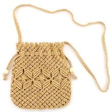 Load image into Gallery viewer, Hand Drawstring Straw Bag One Shoulder Woven Beach Bag