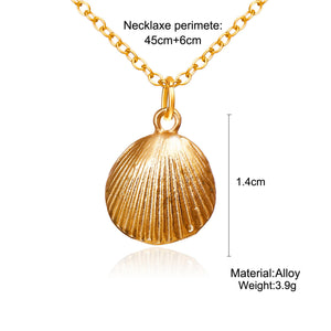 Marine Life Shell Necklace Vintage Pendant Necklace