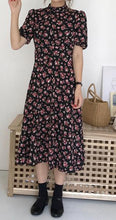 Load image into Gallery viewer, New Floral Print Short Sleeve Casual Dress