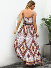 Load image into Gallery viewer, Print Spaghetti Strap Vintage Boho Maxi Dress