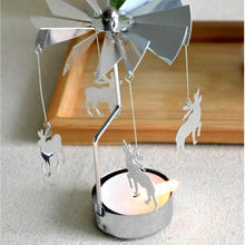 Load image into Gallery viewer, Rotate romantic candle holder Xmas  Spinning your Christmas party