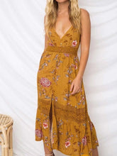 Load image into Gallery viewer, Printed Spaghetti Strap Backless Beach Bohemia Maxi Dress