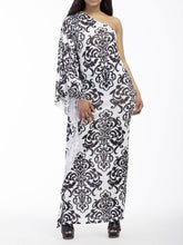 Load image into Gallery viewer, Sexy Printed Oblique Shoulder Boho Beach Maxi Long Dress